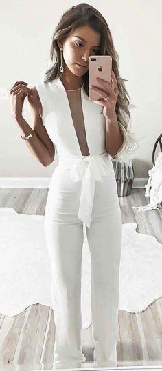 white-fashion-look - Fashion Outfit Ideas Classy Outfits For Women, Party Outfits For Women, Woman Outfits, Casual Outfits, Clothes For Women, Summer Outfits, Fall Outfits, White Fashion, Look Fashion