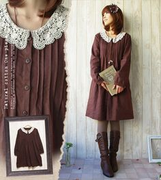 Shop: One Piece - No mail service] Design * gentle neck race to match the feeling of the shirt dress ☆ linen fashionable girls want to be a natural girly anytime shirt dress natural linen - resale midnight on January 10] [Rakuten] Favorite