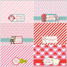 Scrap Page for treat toppers. Template 102677. #DIY #Valentines