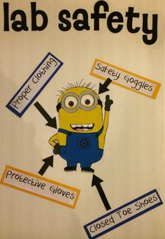 Black and Neon ... These minions are a good way to teach science safety and to decorate my classroom.