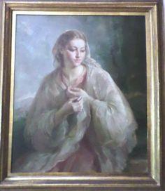 Arte español siglo XX. pintura de Virgen. Julio Moises. Aportado por Elena Fdz Escalante. Buenos Aires