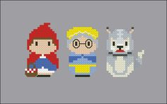 Little Red Riding Hood – Grimm's Fairy Tales - Mini People - Cross Stitch Patterns - Products