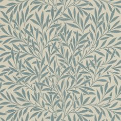 Willow by Morris - Soft Green / Cream - Wallpaper : Wallpaper Direct Feature Wallpaper, Green Wallpaper, Fabric Wallpaper, Wallpaper Roll, Chinese Wallpaper, William Morris Wallpaper, Morris Wallpapers, William Morris Tapet, Leave Pattern