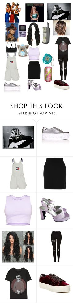 """""""90's hip hop, pop, and rock XX"""" by shawtysotrill ❤ liked on Polyvore featuring Y's by Yohji Yamamoto, Versus, Tommy Hilfiger, Topshop, R13, Marc Fisher LTD and adidas"""