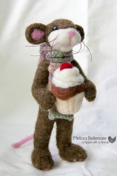 Needle Felted Mouse made from Canadian wool by ahippiewithaminivan