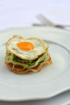 Nido di zucchine con uovo di quaglia - Silvia Pasticci Sandwiches, Snack, Blog, Blogging, Paninis