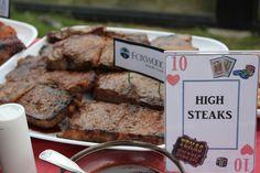 Casino theme food labels #foodlabels #casinotheme #highsteaks