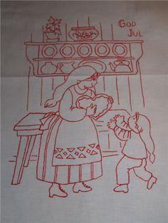 Söt äldre julbonad/vepa eller som liten paradhandduk på Tradera.com - Textiles, Apron, Pinafore Dress, Aprons, Fabrics