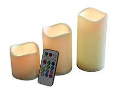 Catkit 3 Pcs Flameless Remote Control 12 ColorChanging LED Candle Light Set *** Check out the image by visiting the link.