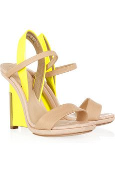 74165bc6039 Reed Krakoff - Leather and patent-leather wedge sandals