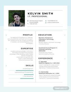 Resume - Free IT Professional Experience Resume – Resume Free Professional Resume Template, Free Resume Examples, Resume Design Template, Resume Templates, Design Resume, Civil Engineer Resume, Microsoft Publisher, Microsoft Word, Perfect Resume