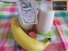 Telita na Cozinha: iogurte líquido banana e morango