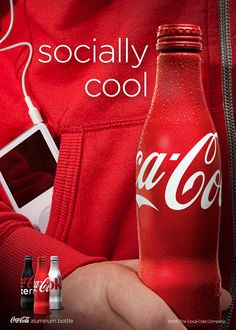 Coca-Cola aluminium bottle | campaign by Jonathan