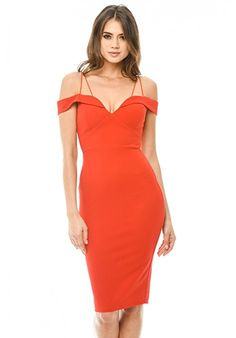 This red off shoulder bodycon midi dress with it's strappy cross detail at the neckline is a must have for any girls wardrobe! This midi bodycon st. Dress Up, Bodycon Dress, Cute Dresses, Midi Dresses, Party Dresses, Girls Wardrobe, Bodycon Fashion, Street Outfit, Fashion Online