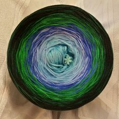 Nr. 231: Hochbausch: 6 Farben Mix: aqua mittelblau königsblau grün dunkelgrün schwarz