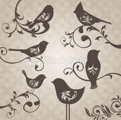 ornate design inside bird tattoo