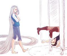 tangled yaoi version yuri on ice ile ilgili görsel sonucu Yuri X Victor, Yuri On Ice Comic, Manga Anime, Katsuki Yuri, Viktor Nikiforov, Yuri!!! On Ice, Ice Skaters, Cute Gay, Kawaii