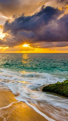Truly Magnificent Shoot of Beach Sunset Scene Canvas Art - Canvas Wall Decor Beautiful Nature Wallpaper, Beautiful Landscapes, Beautiful Sunrise, Beautiful Beaches, Sunset Photography, Landscape Photography, Landscape Photos, Sunset Wallpaper, Iphone Wallpaper