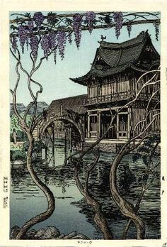"Noel NOUET (1885-1969) ""Kameido Shrine"" (1936)"