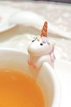 Unicorn Ornament - Unicorn Tea Bag Holder - Unicorn Lovers Gifts - Unicorn Teabag Holders - Unicorn Cup Friends by MiniHandsCrafts on Etsy