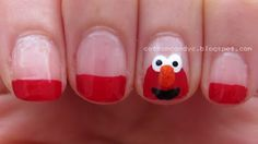 Hello ♥ hope you all had a wonderful and relaxing Easter weekend. Today I'd like to show you a very cute Elmo nail art. Elmo is the most . Birthday Party At Home, Nails For Kids, Nail Art Videos, Toe Nail Designs, Beautiful Nail Designs, Nail Tutorials, Cool Nail Art, Elmo, Nail Arts