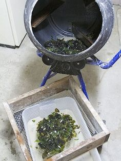 Make your own sea glass with cement mixer -- high volumes for garden paths