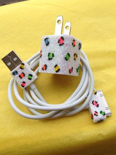 Leopard Print iPhone Charger