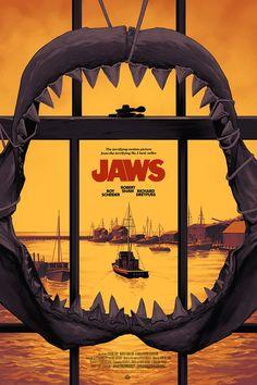 Jaws Variant Movie Poster Screen Print by Phantom City Creative x Mondo