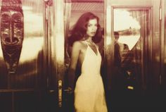 Bianca Jagger glamour- her hair her outfit the film stock/grading on this pic.