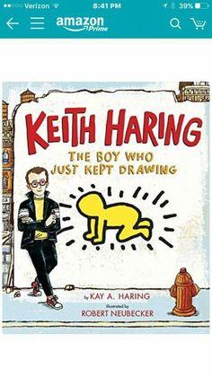 Keith Haring: The Boy Who Just Kept Drawing Art Books For Kids, Childrens Books, Art For Kids, Art Children, Elementary Art Rooms, Art Lessons Elementary, Kindergarten Art, Preschool Art, 3rd Grade Art