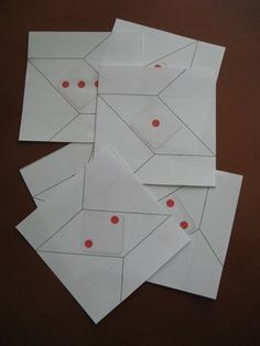 Dados de Origami Imprimibles Origami, Playing Cards, Games, Home Made, Board Games, Paper Crafts, Knowledge, Printables, Paper Envelopes