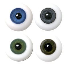 Solid Glass Round Paperweight Eyes - 1 pair (4000 Series)