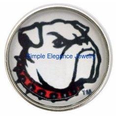 #2031 Bull Dog Mascot Snap 20mm