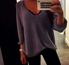 Love the sweater and lace