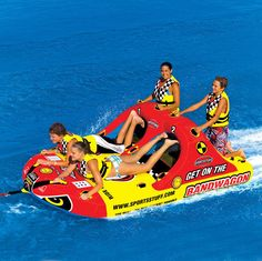 New Sportsstuff Towable Boat Tube 1-4 Rider BANDWAGON 2 2 531620 #SportsStuff