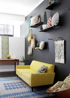 Grey and Yellow Living Room Furniture. 20 Grey and Yellow Living Room Furniture. Moody Gray Hues Accented with Bright Sunny Yellow touches Yellow Living Room Furniture, Living Room Grey, Living Room Sets, Home And Living, Living Room Designs, Living Room Decor, Small Living, Grey Room, Bedroom Decor