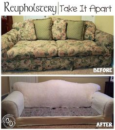 Reupholstery: Take It Apart. Step-by-step tutorial on taking apart your furniture to reupholster.