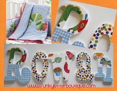 The Very Hungry Caterpillar Hand Painted Custom Wood Wall Letters Wall Art Children Nursery Pottery Barn Kids