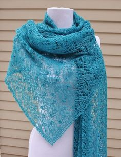 All Knitted Lace: January Estonian Lace Shawl - pattern I HAVE to learn to knit!......without moth holes I mean...