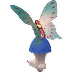 Fiber Butterfly Night Light, Blue