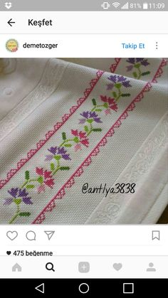 This post was discovered by Aliye. Discover (and save!) your own Posts on Unirazi. Cross Stitch Art, Cross Stitch Borders, Cross Stitch Patterns, Blackwork, Needlework, Diy And Crafts, Tapestry, Embroidery, Posts