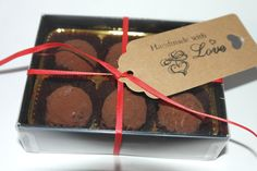 6 Handmade Salted Caramel Flavour Truffles by SweetieLoveUK