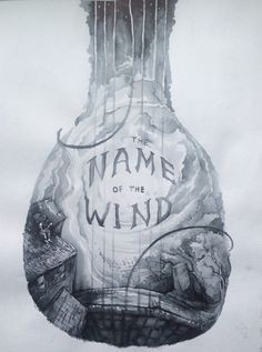 """The Name of the Wind"" lute - artist unknown 