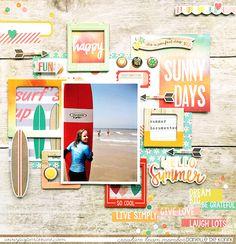 Danielle de Konink for @paperissuesteam - Free printables - @simplestories Summer Vibes #paperissues #simplestores #freeprintables #scrapbooking #papercrafts