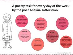 Free poetry worksheet from the Colournauts Free Coloring Pictures, Rhyming Words, Writing Skills, Primary School, Sentences, Worksheets, Teaching, Finland, English