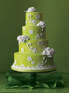 Four tier pink and green topsy turvy wedding cake — a scaled down version of this will make a great birthday cake too. Description from pinterest.com. I searched for this on bing.com/images