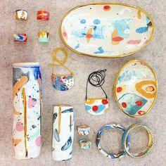 Ruby Pilven ceramics _ she works with coloured clay rather than glaze. #PotteryPainting