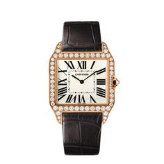 Cartier Santos-Dumont watch.  In 1904, Louis Cartier granted the wish of his friend, the famous Brazilian aviator Alberto Santos Dumont: to be able to tell time while flying. Thus, one of the first wristwatches was born. Featuring geometric shapes and exposed screws, the watch quickly became an icon within the House.