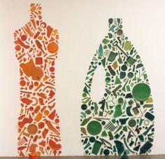 www.samaryounes.com  Tony Cragg, Orange and Green Bottle, 1982 Plastic