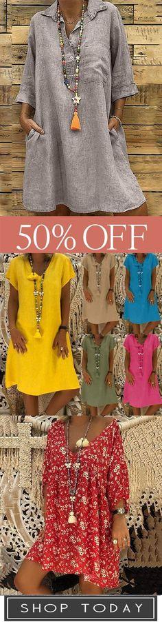 Mehr Stil >>> Hot-sale Damen Boho Casual Kleider  #casual #damen #kleider,